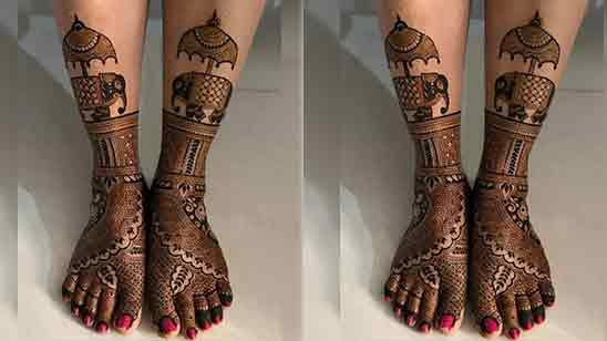 Arabic Foot Mehndi Design Simple and Easy