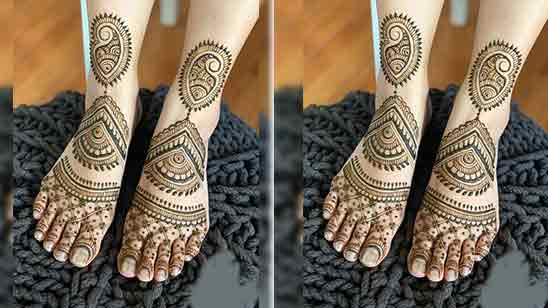 Bridal Foot Mehndi Design Simple and Easy