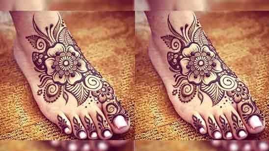Foot Mehndi Design Simple 2018