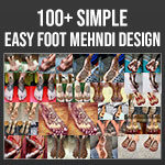 Leg Mehndi Design Simple
