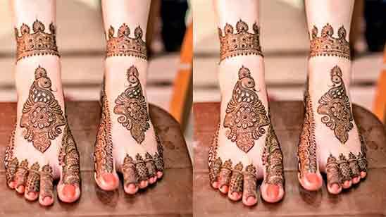 Modern Foot Mehndi Design Simple and Easy