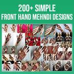 Front Hand Simple Mehndi Design