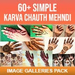 Easy and Simple Karva Chauth Special Mehandi Designs